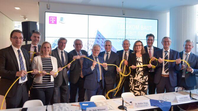 Glasfaserausbau sichert Gigabit-Netz in der Region Stuttgart