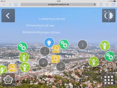 Neue App: 360-Grad Fernsehturm: Mit Augmented Reality die Region Stuttgart entdecken