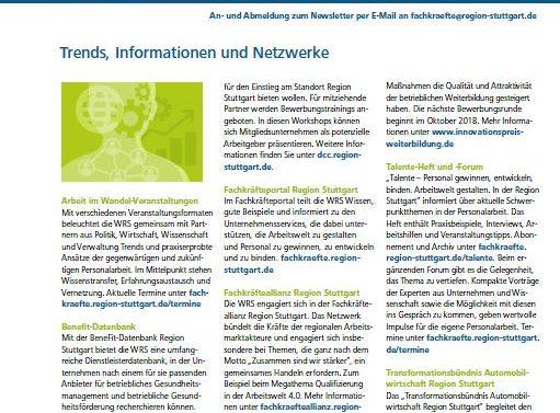 WRS-Arbeitswelt-Newsletter