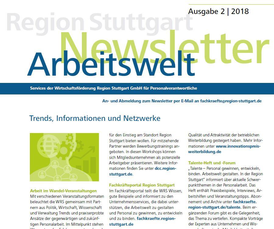 WRS-Arbeitswelt-Newsletter Ausgabe 2-2018